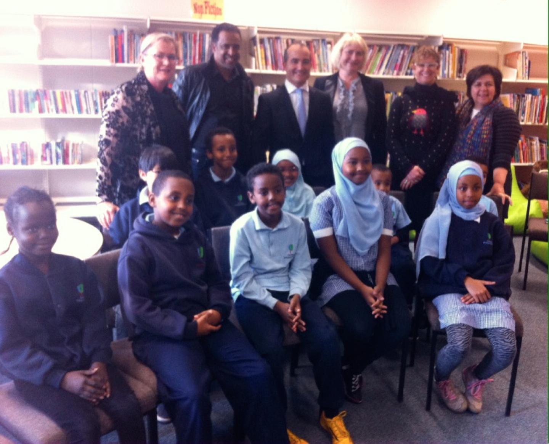 School council, junior school council, principal, and staff meet the Hon James Merlino at Carlton Primary School.